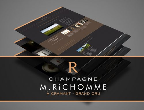 Modernisation de site internet Champagne Richomme