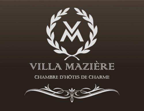 Création du site internet et du logo de la Villa Mazière, chambres d'hôtes de charme en bourgogne